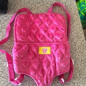Pink build a bear backpack